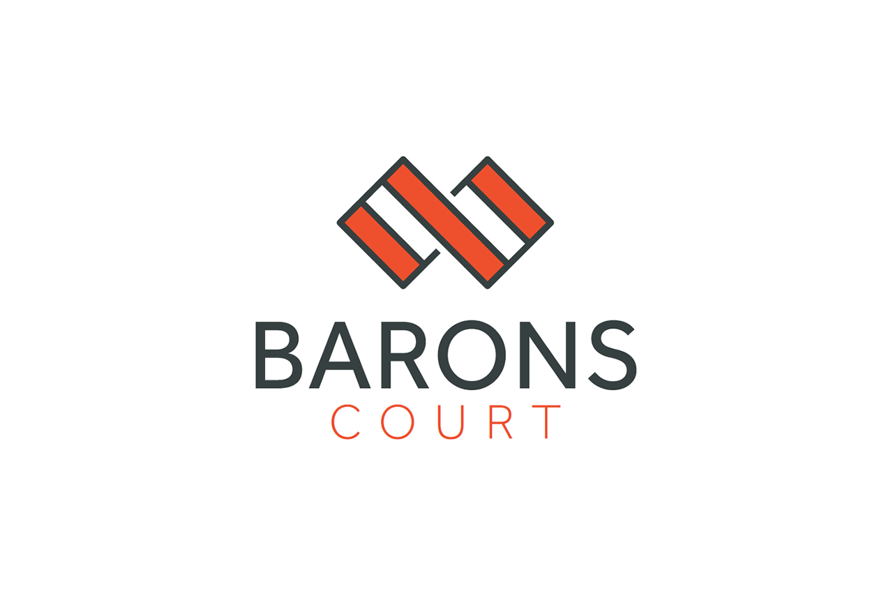 Barons Court Logo Design