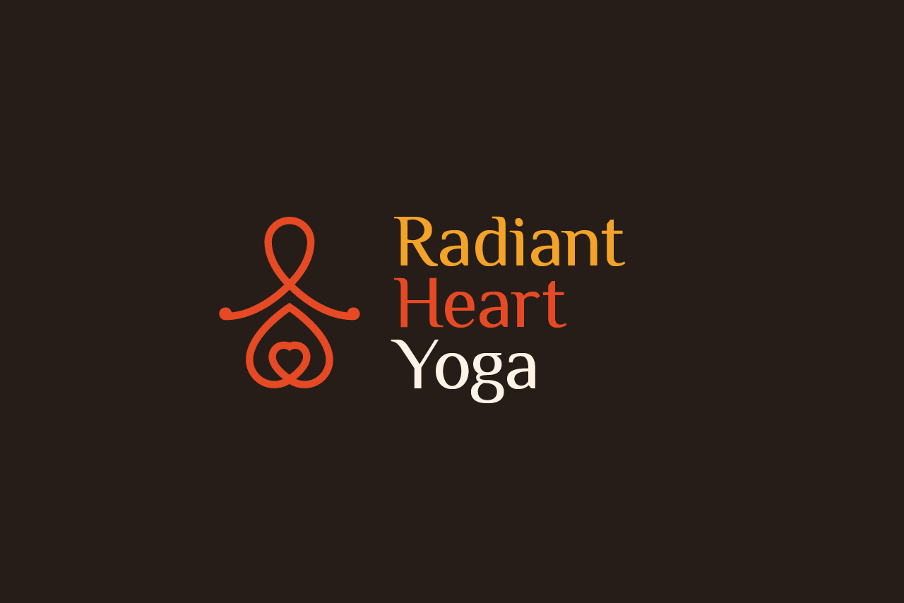 Radiant Heart Yoga Logo Design