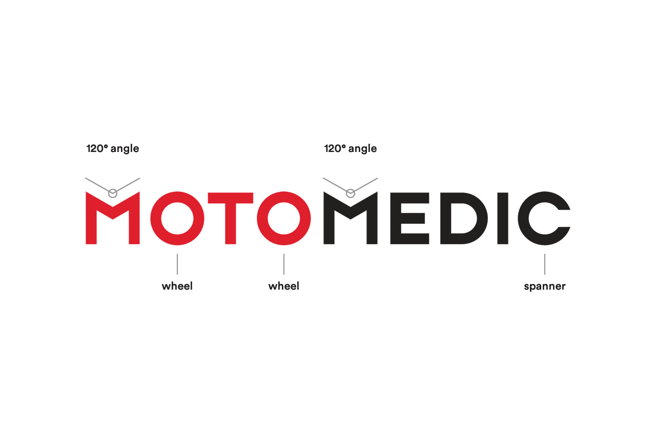 Moto Medic custom wordmark