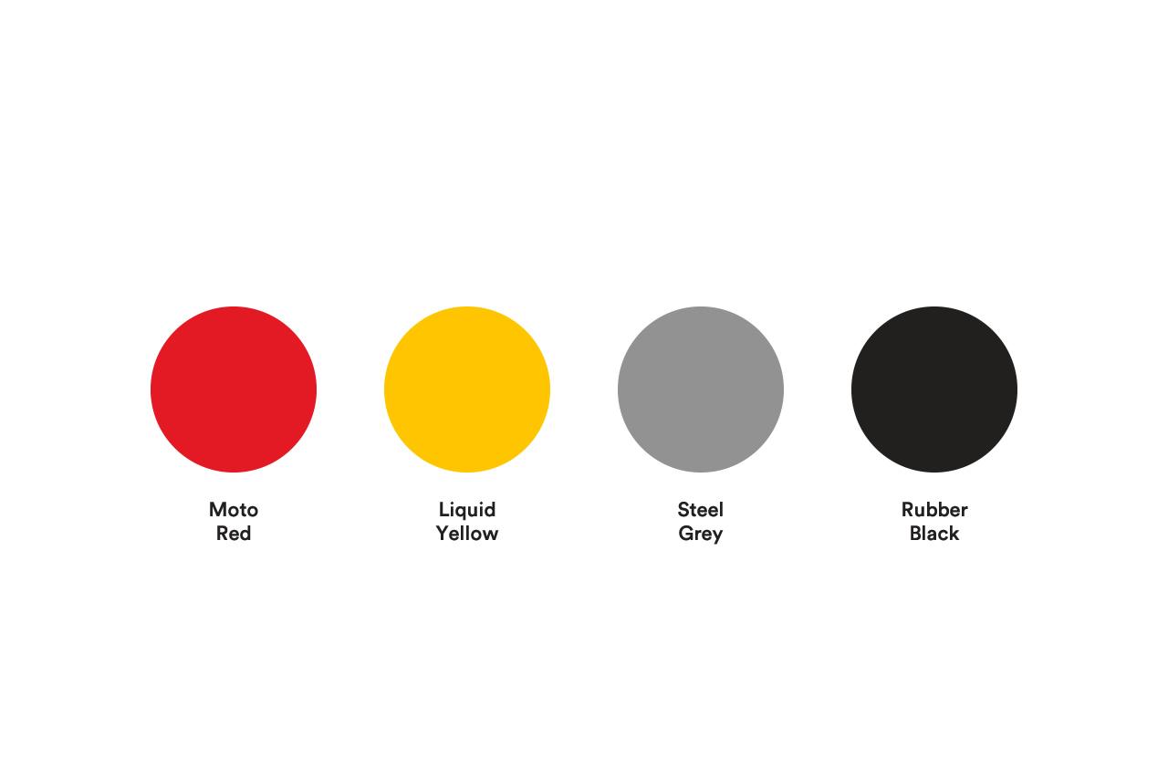 Moto Medic colour palette