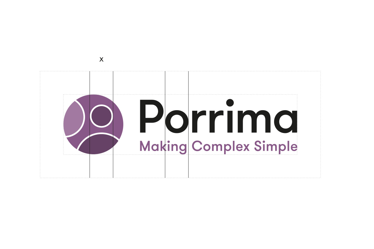 Porrima logo clear space