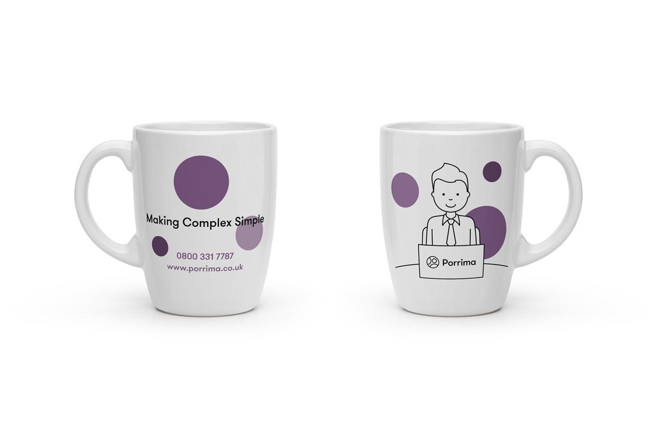 Porrima promotional mug design