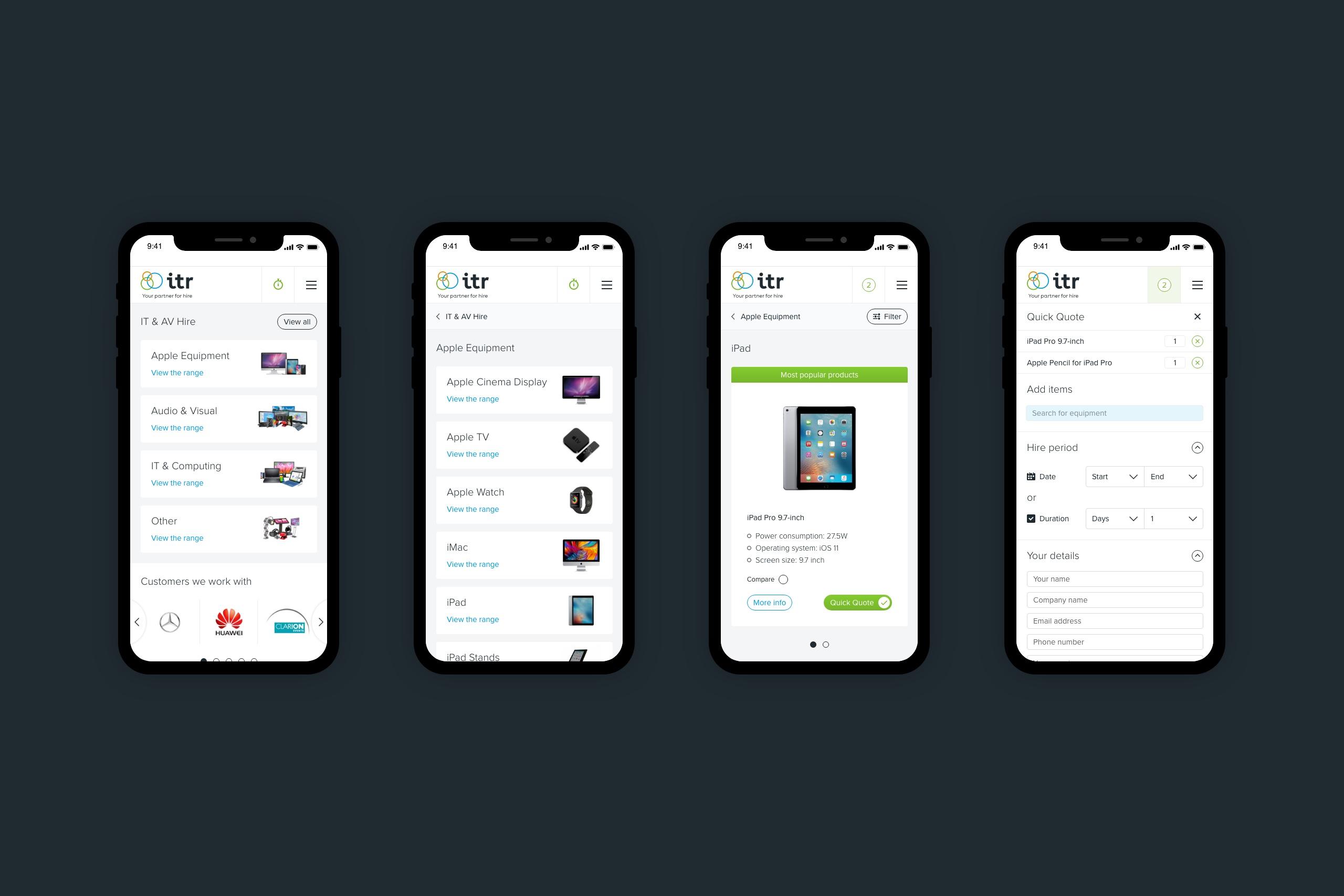 ITR mobile eCommerce