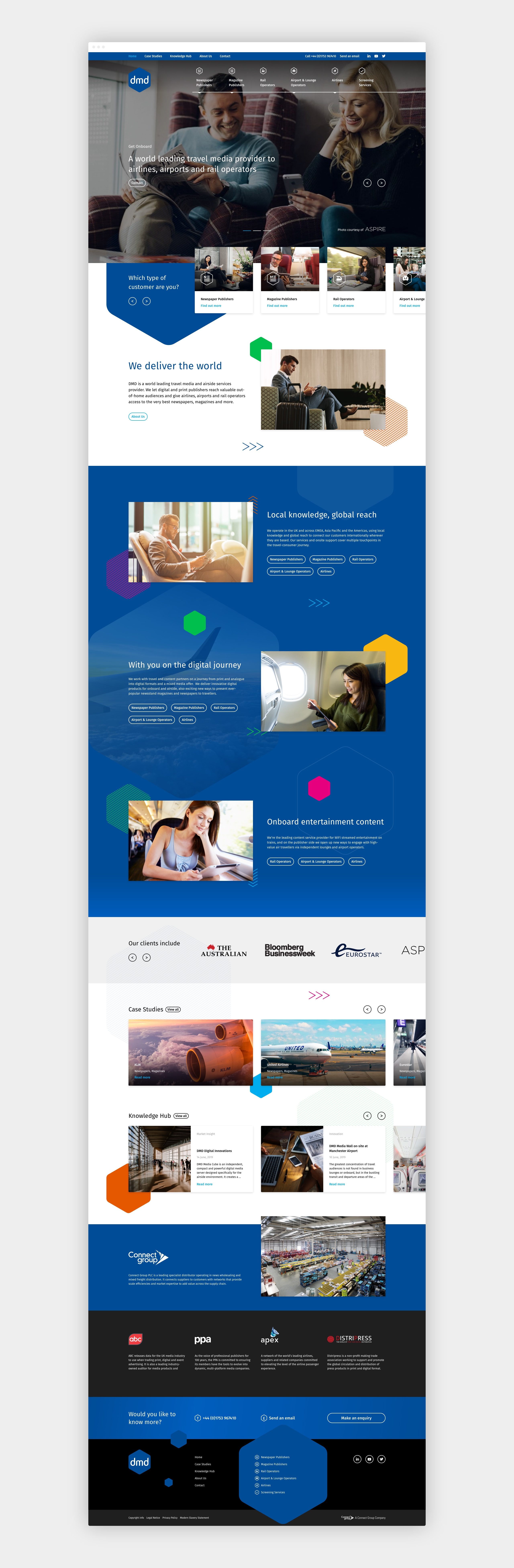 DMD responsive parallax website design