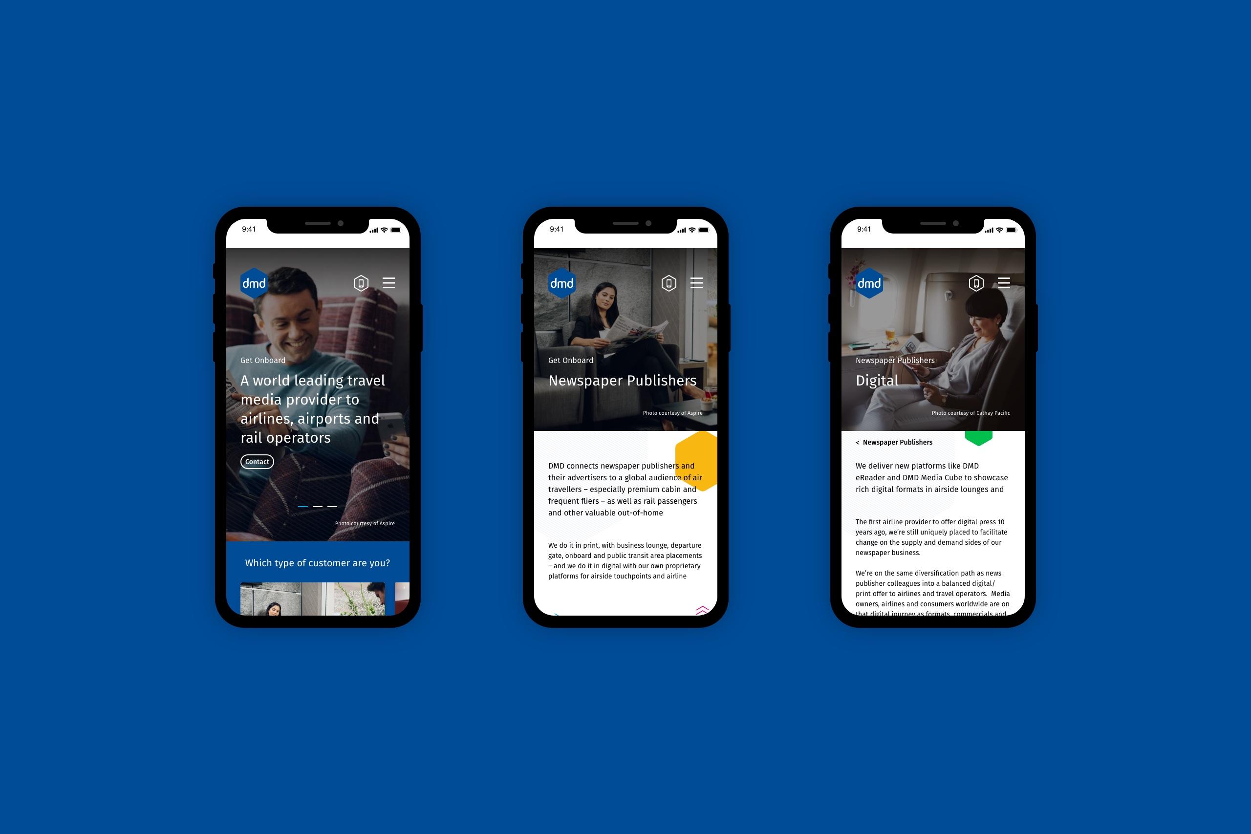 DMD mobile responsive website design