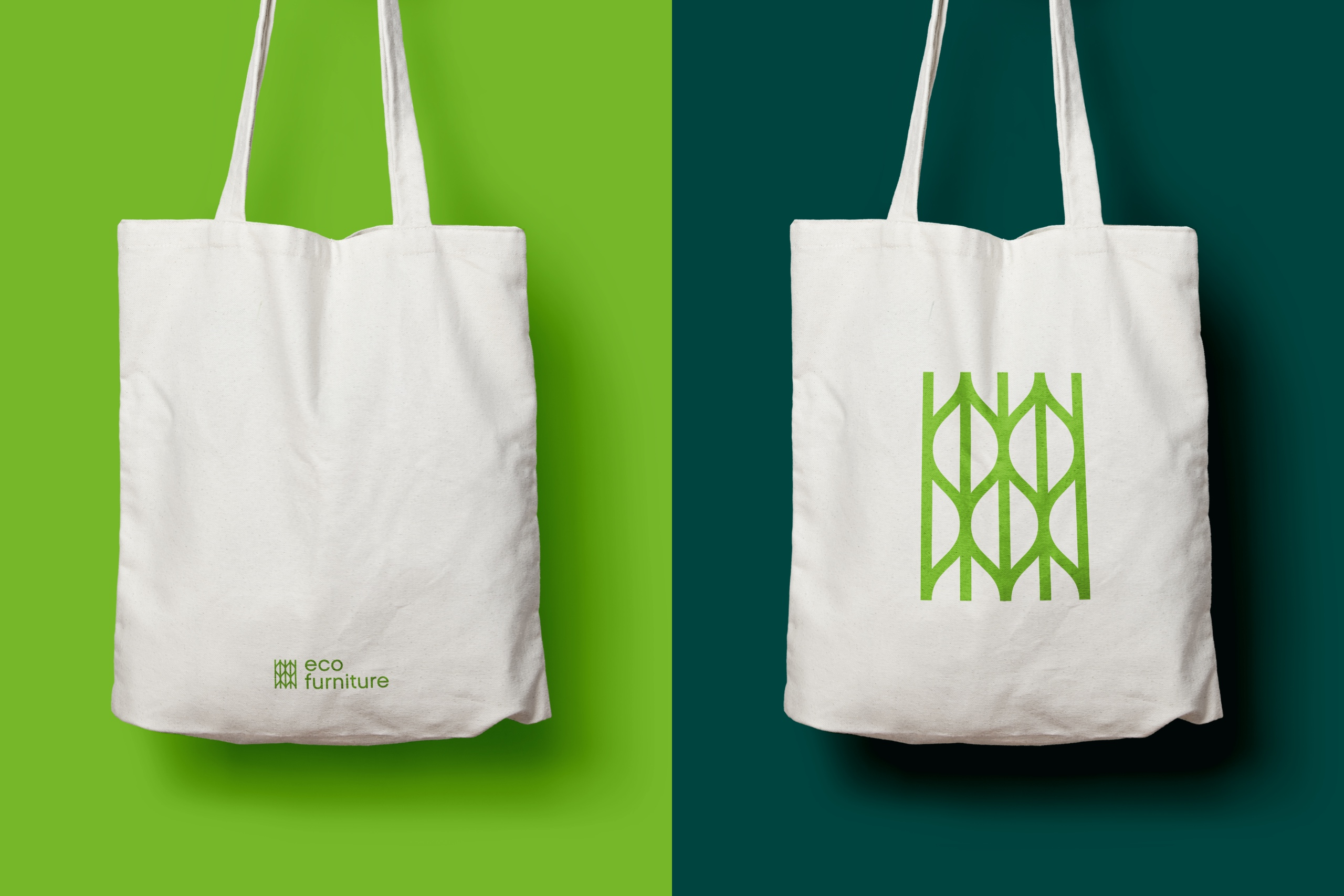 Eco Furniture natural canvas tote bags